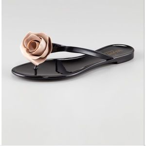 Valentino Rose Flip Flops Size 39